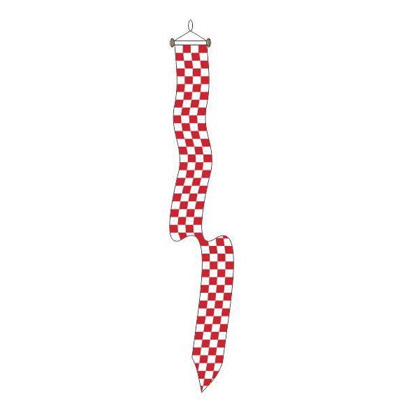 Wimpel Brabants Bont klein 18x165cm met stokje voor aan de vlaggenstok