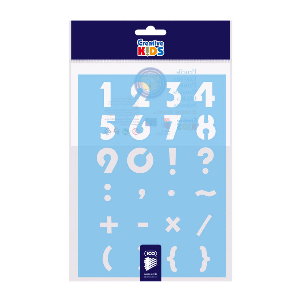 Sjabloon cijfers en wiskundige tekens