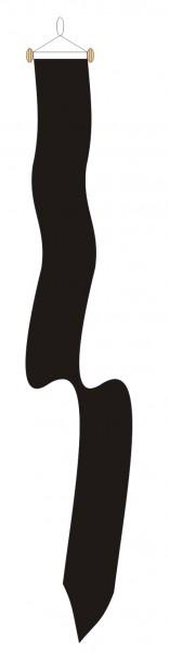 Zwarte Rouwwimpel 18x165 voor de rouwperiode en begrafenis