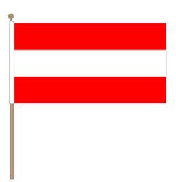 Oostenrijks zwaaivlaggetje, kleine fanvlag Oostenrijk 15x22cm