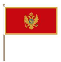 Zwaaivlag Montenegro, Montenegrijnse zwaaivlag 30x45cm, stoklengte 60cm