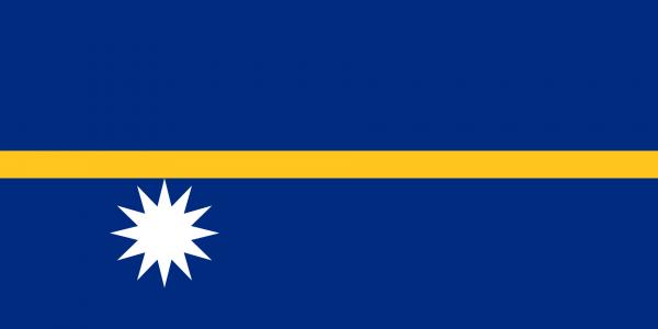 Vlag Nauru 100x150cm Glanspoly