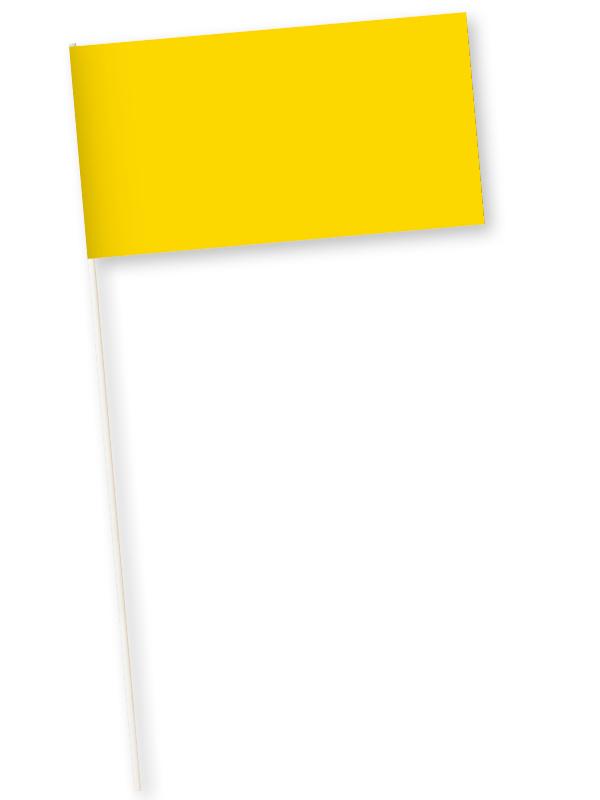 gele zwaaivlaggetjes papier 11x21cm 10 stuks