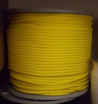 Vlaggenlijn gele vlaggentouw geel koord 6mm per meter