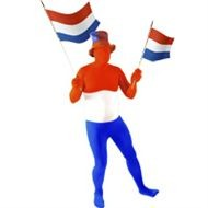 Skinsuit | Morphsuite r/w/b Nederlandse vlag past iedereen door strech stof