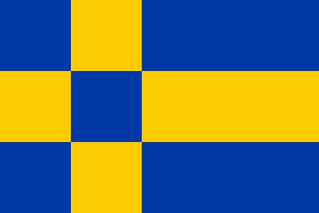 Vlag gemeente Tilburg Tilburgse bootvlag vlaggetje 20x30cm