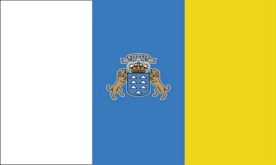 Tafelvlag Canarische Eilanden 10x15cm