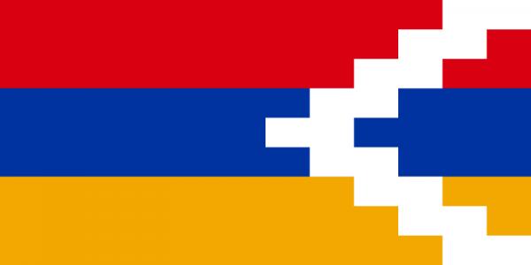 mastvlag Republiek Artsach 150x225cm