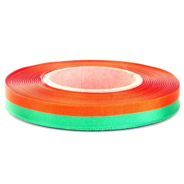Lint Oranje Groen voor cadeau of medailles 25m1 25mm