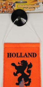 mini vlaghanger oranje holland auto 10x15cm