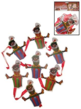Sinterklaasversiering Pietjes lijn met Pieten