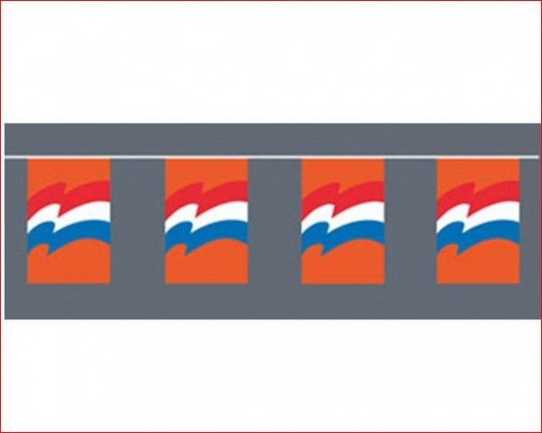Vlaggenlijn Oranje met Nederlandse vlaggen XL