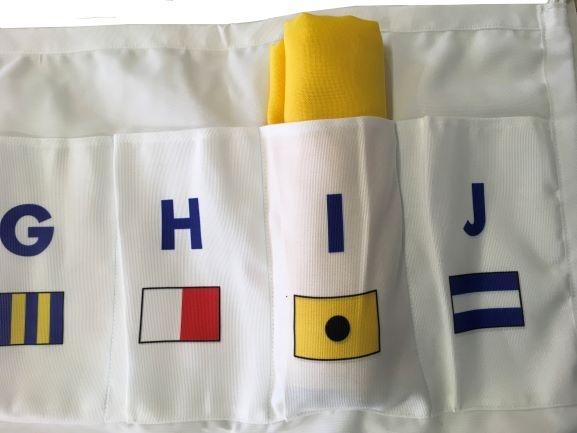 Tas voor seinvlag formaat 80x120cm voorbeeld