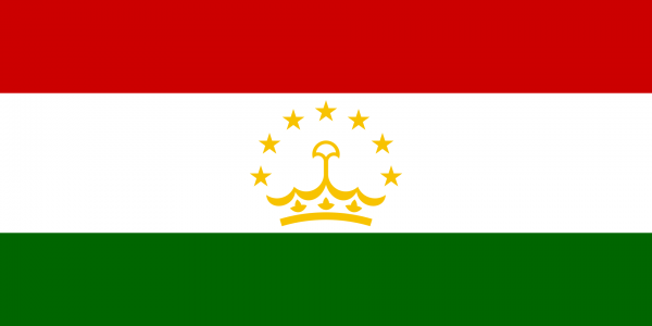 Tafelvlag Tadzjikistan met standaard