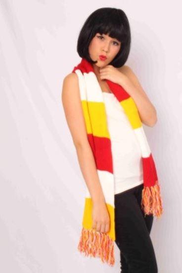 Sjaal Oeteldonk gebreid rood/wit/geel