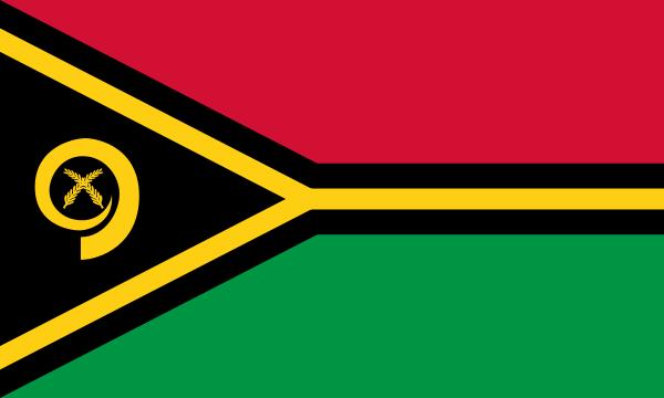 tafelvlaggen Vanuatu 10x15cm | Vanuatuanse tafelvlag