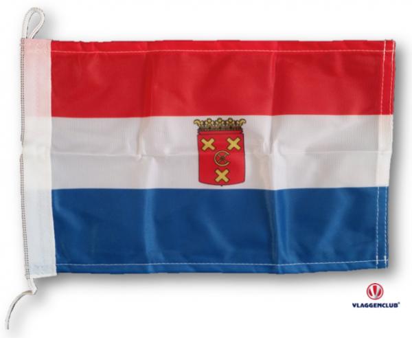 Vlag gemeente Nieuwkoop met wapen 20x30cm