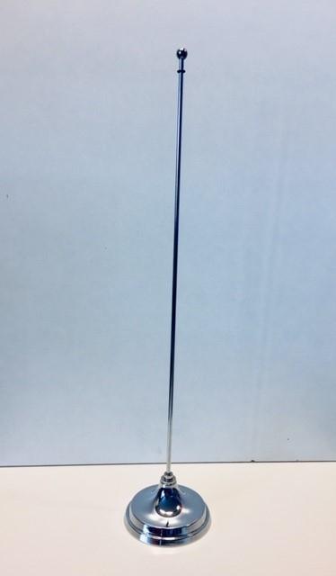 Tafelstandaard chroom voor 1 vlaggetje 10x15cm of 15x25cm