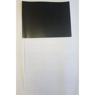 Zwarte zwaaivlaggen papier 20x30cm 10 stuks