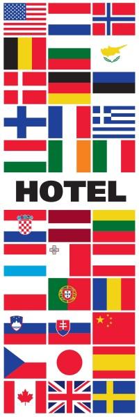 Banier Hotel Hoogformaat vlag 240x80cm Horecavlag