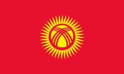 vlag Kirgizië | Kirgizische vlaggen 200x300cm mastvlag