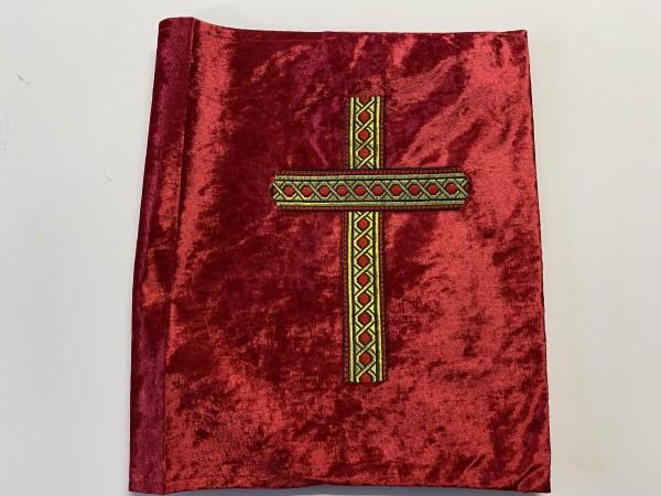 Boekomslag Sinterklaas stof met gouden kruis