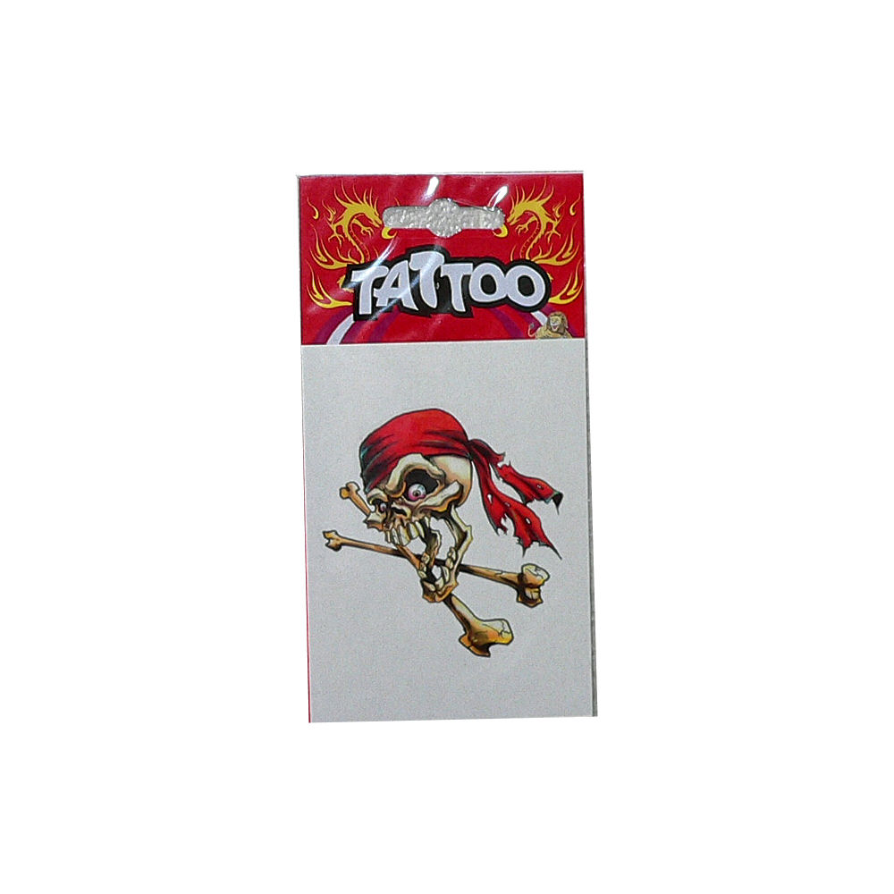 Tattoo Pirate Red Bandana