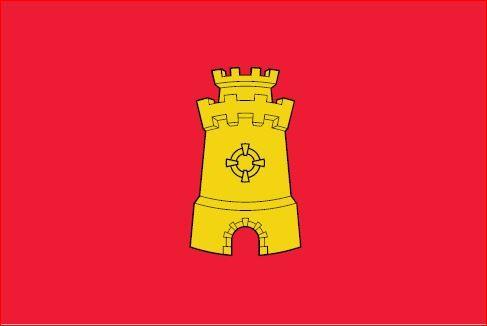 Vlag Middelburg 30x45cm Middelburgse vlaggen