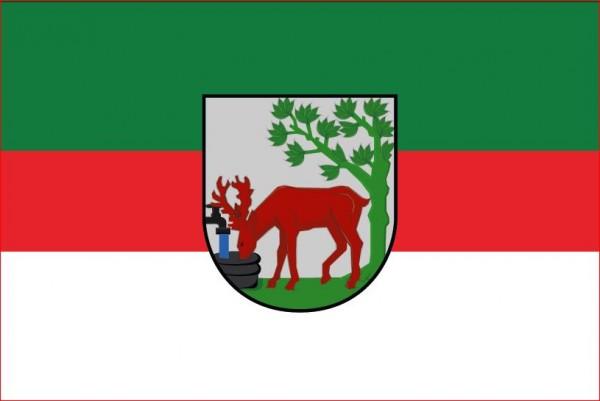 Stompwijkse vlag met wapen van Stompwijk 20x30cm