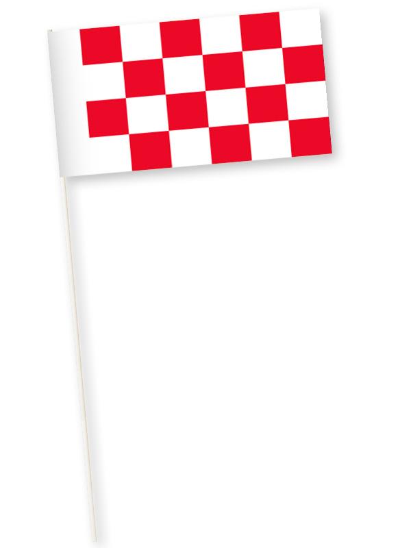 Zwaaivlag provincie Brabant, Noord-Brabants zwaaivlaggetje 11x21cm