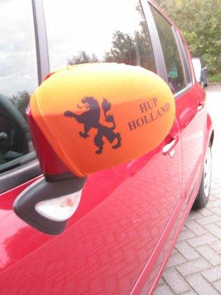 autospiegel hoezen EK oranje met leeuw set van 2 stuks