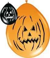 Halloween ballonnen Horror Pompoen 8 stuks
