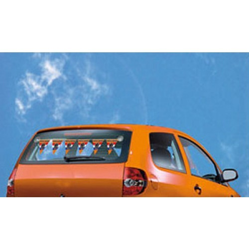 Mini Oranje Vlaggenlijn Auto achterruit bevestiging