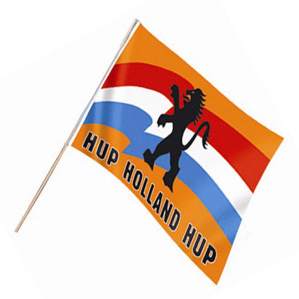 Zwaaivlag Hup Holland Oranje 30x45cm
