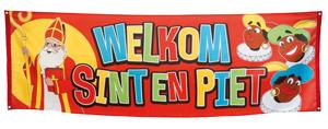 Welkom Sint en Piet spandoek Vlaggenclub