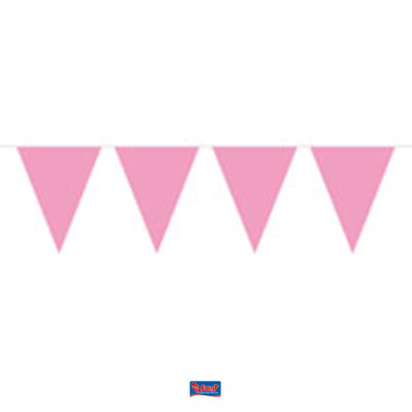Vlaggenlijn Roze 10m