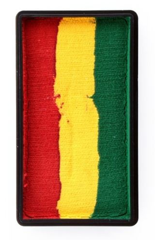 Schmink vlag carnaval Limburg rood/geel/groen 28g