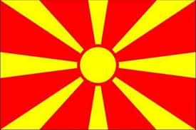 vlag Macedonie 150x225cm Macedonische vlaggen