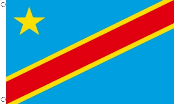 Vlag Congo Kinshasa Democratische Republiek 90x150cm