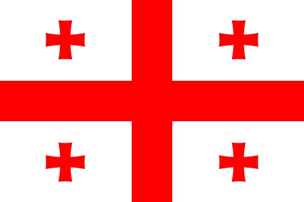 vlag Georgië | Georgische vlaggen 150x225cm mastvlag