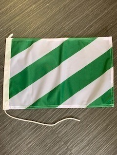 vlag groen-wit 30x45cm diagonaal