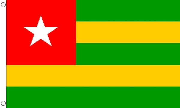 Vlag Togo 60x90cm