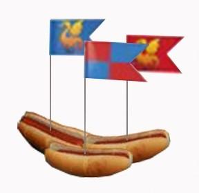 12 Prikker Ridders en draken in hotdog