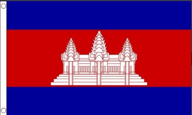 Cambodja  vlag | Cambodjaanse vlaggen 90x150cm Best Value