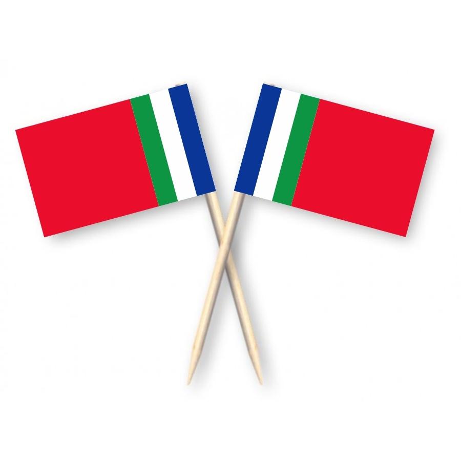 Cocktailprikkers Molukken vlag, Molukse Kaasprikkers, 50 stuks