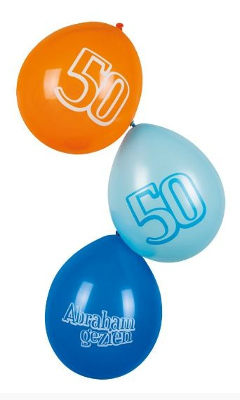 Ballonnen 50 Abraham gezien 6 stuks