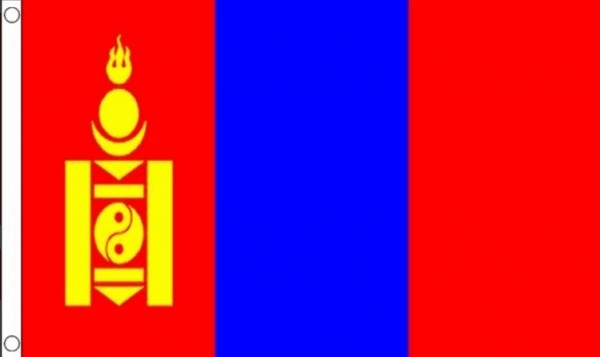 Vlag Mongolië Mongoolse vlaggen 90x150cm Best Value