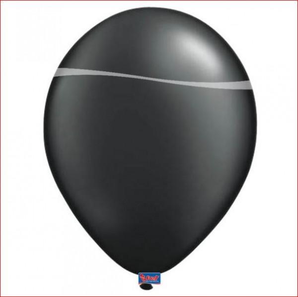 Zwarte Metallic Ballonnen 10 stuks 12 inch 30cm groot zwart