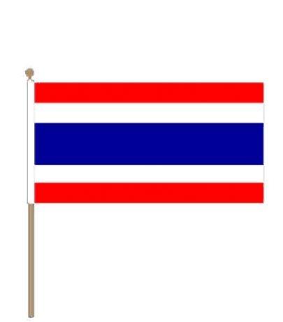 Zwaaivlag Thailand I Thaise Zwaaivlaggen 30x45cm stoklegte 60cm