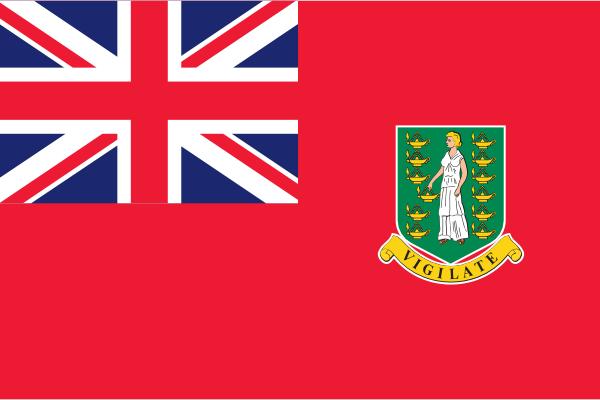 vlag Britse Maagden eilanden Koopvaardijvlag 100x150cm Red Ensign
